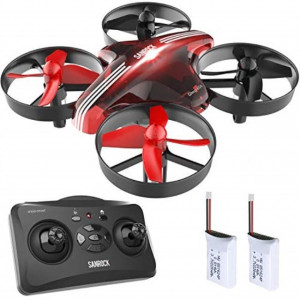 SANROCK GD65A Drone for Kids and Beginners RC Mini Drone Quadcopter with Extra Battery RTF 4 Channel 2.4G 6-Gyro Remote Control Aircraft with One Key Return Great Gift for Boys and Girls(Red)