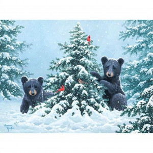 Bits and Pieces - O Christmas Tree 500 Piece Jigsaw Puzzles for Adults - Each Puzzle Measures 18 X 24 - 500 pc Jigsaws by Artist Abraham Hunter