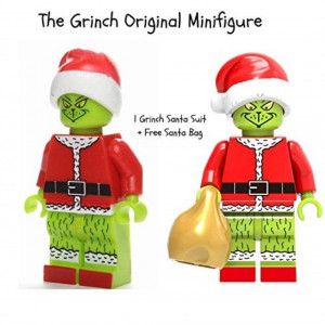 The Grinch Movie | Collectible Building Toys Party Favor Supplies Birthday Kids Gift Action Figure | Santa Suit
