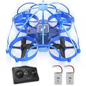 Mini Drone for KidsDrone for BeginnerRemote Control Drone Toys360 Full Protection Rc Nano Quadcopter Altitude Hold Headless Mode 3D Flips Indoor Small Pocket Drone with Bonus Batteries (AT-66D)