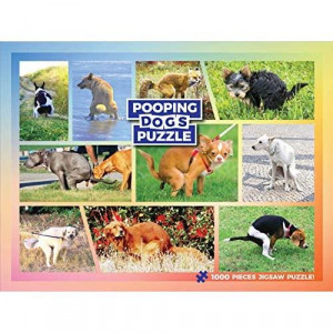 Pooping Dogs Jigsaw Puzzle - Funny Gag Gift for Dog Lovers and Owners - 1000 Piece Puzzle