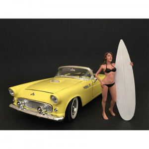 Surfer Casey Figure For 1:18 Scale Models by American Diorama