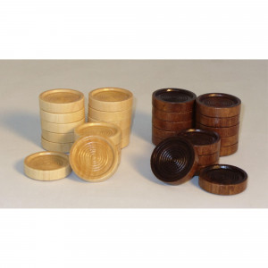 """1.5"""" Wood Stacking Checkers"""