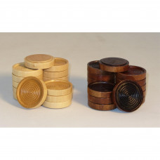 """1.75"""" Wood Stacking Checkers"""