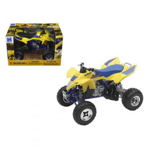 Suzuki Quad Racer R450 Yellow/Blue ATV Motorcycle 1/12 Diecast Model by New Ray