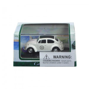 Volkswagen Beetle 53 in Display Case 1/72 Diecast Model Car by Cararama