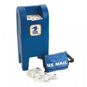 MAIL BOX SET, INCL BAGS, LETTERS and MAILBOX