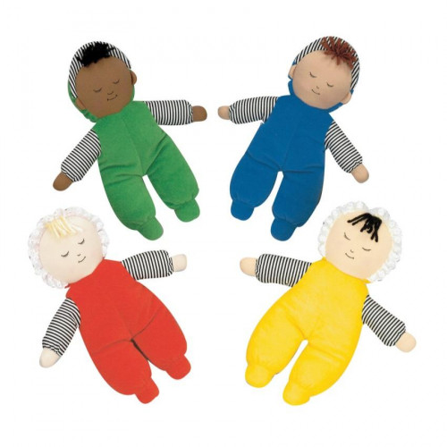 Babys First Doll - Set of 4 Multi-Ethnic