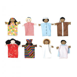 """Multi-Cultural 9"""" Hand Puppets"""
