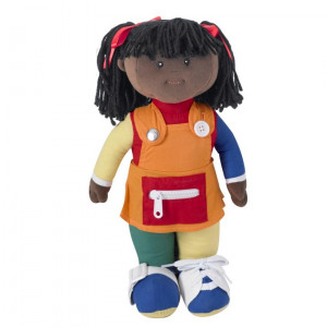 Learn to Dress - African American Girl