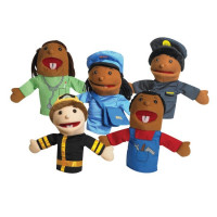 "10"" Career Puppets with Movable Mouths - Set of 5"