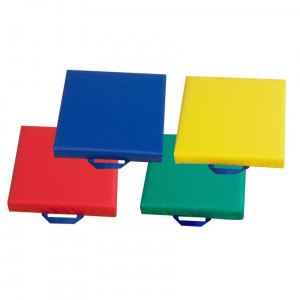 """15"""" Primary Square Cushions - Set of 4"""