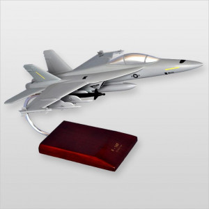 F/A-18F Super Hornet Wood Desktop Model