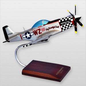"P-51D Mustang ""Big Beautiful Doll"" Wood Desktop Model"