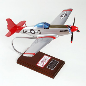 P-51D Mustang Tuskegee Airmen Wood Desktop Model