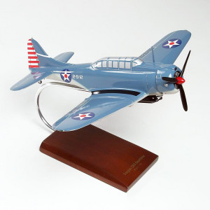 SBD-5 Dauntless Wood Desktop Model
