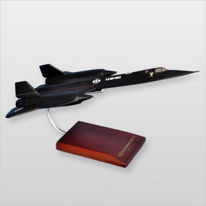 SR-71A Blackbird Wood Desktop Model