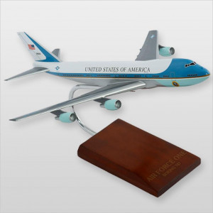 VC-25A Air Force One Desktop Wood Model